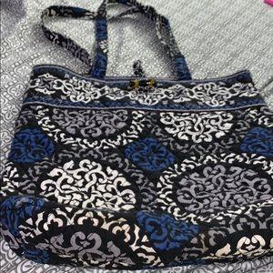 Blue and black Vera Bradley bag